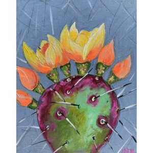 Prickly Pear Painted by Kimberly Heil