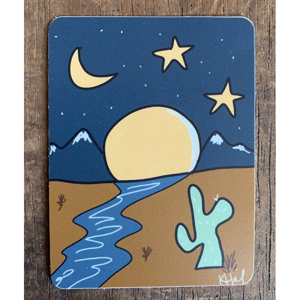 Deset Moon Sticker - Designed by Artist Kimberly Heil