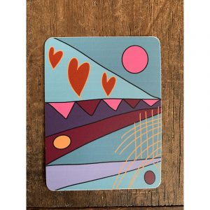 Festival Hearts Sticker - Designed by Artist Kimberly Heil
