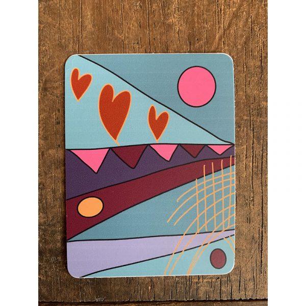 Festival Hearts Sticker - Designed by Artist Kimberly Heil