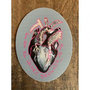 Heartbreaker Sticker - Designed by Artist Kimberly Heil