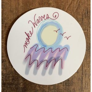 Make Waves Sticker - Designed by Artist Kimberly Heil