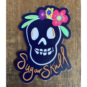 Sugar Skull Sticker - Designed by Artist Kimberly Heil