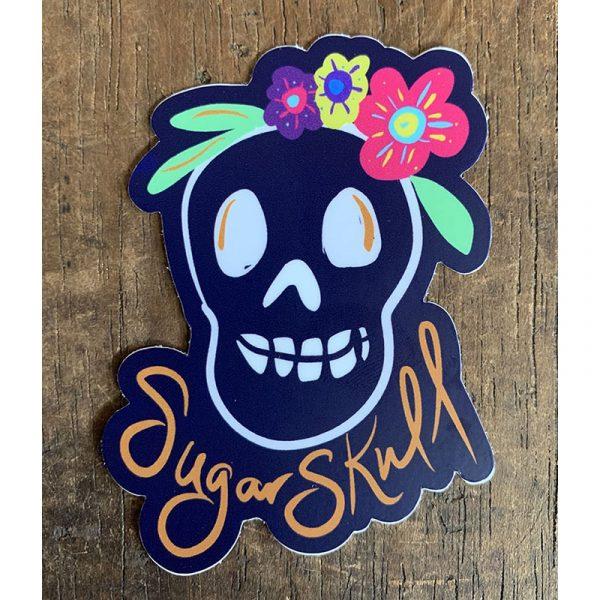Sugar Skull Sticker - Designed by Artist Kimberly Heil