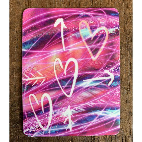 Three Hearts Sticker - Designed by Artist Kimberly Heil