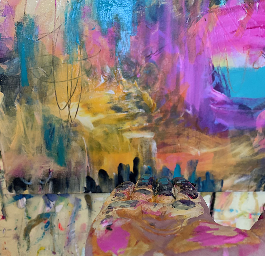 Abstract image created by Artist Kimberly Heil