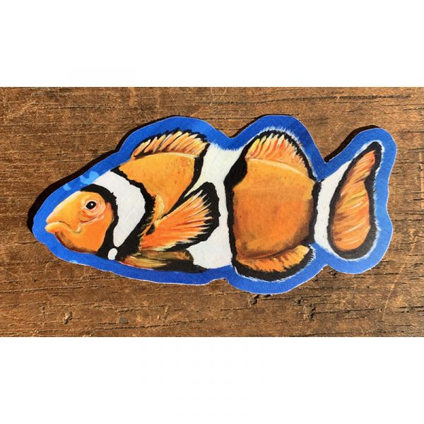 Clownfish Sticker - Designed by Artist Kimberly Heil