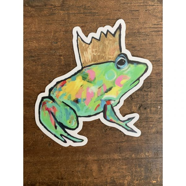 Frog Prince Sticker - Designed by Artist Kimberly Heil