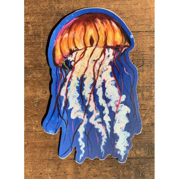 Jellyfish Sticker - Designed by Artist Kimberly Heil